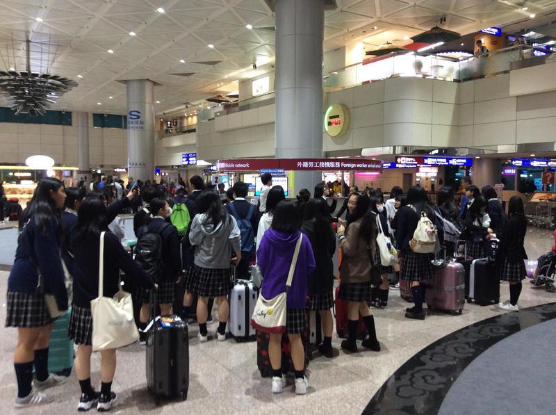 無事に桃園空港に到着しました。